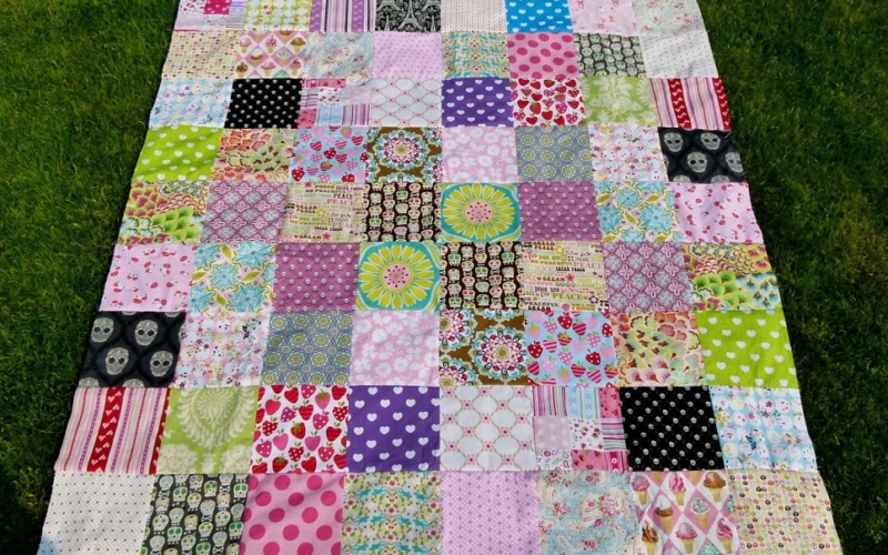 Patchworkdecke Top
