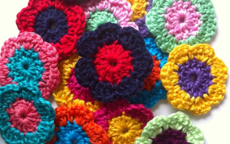 Häkelblumen – wie schön