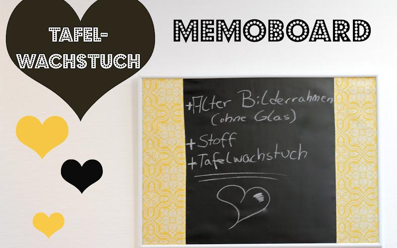 Memoboard aus Tafelwachstuch