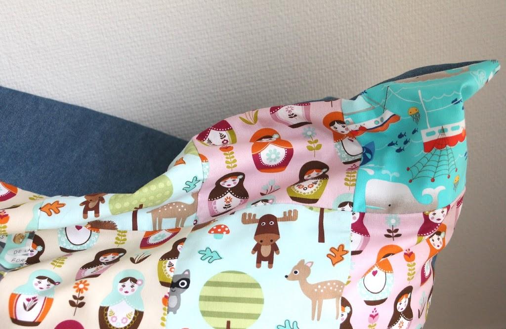 patchwork sitzsack f r kinder pech schwefel. Black Bedroom Furniture Sets. Home Design Ideas