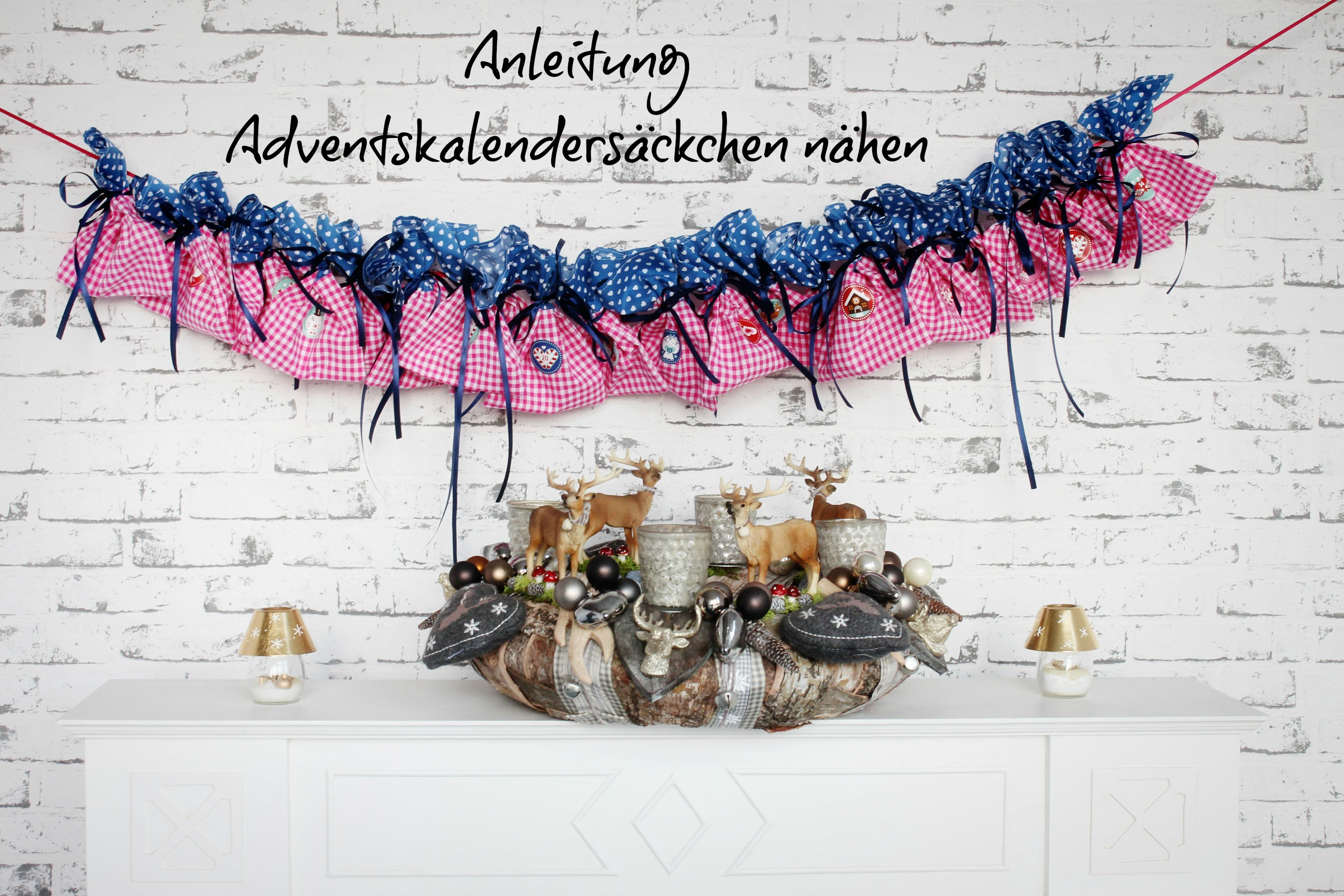 Anleitung Adventskalender nähen - Pech & Schwefel
