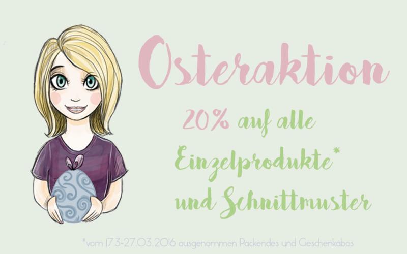 Osterspecial – 20% auf Schnittmuster und Einzelprodukte im Shop