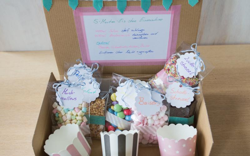Geschenkidee: Eis-DIY-Kit und leckeres Eis ohne Eismaschine