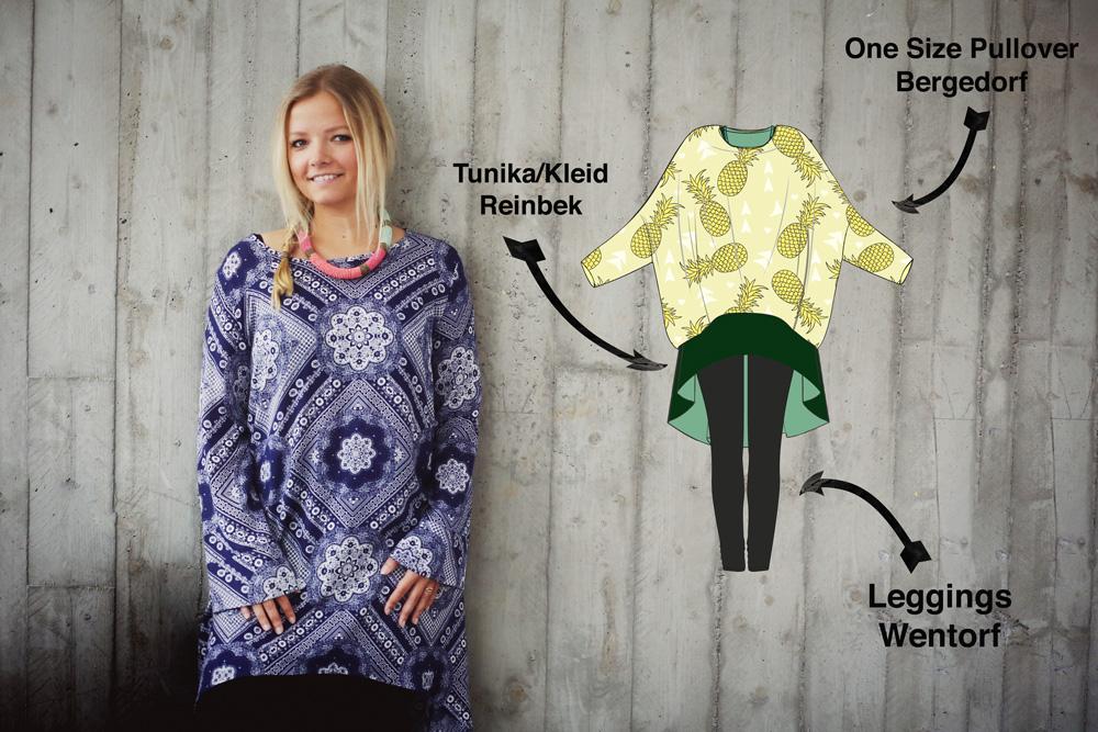 3 - fast neue - Schnittmuster die zusammen ein klasse Outfit ergeben ...