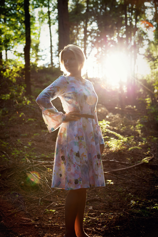 Laboe Jerseykleid im Wald