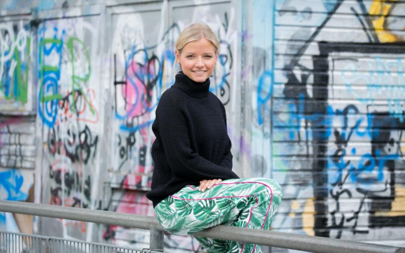 Genäht: Jogginghose Berlin mit Palmenblättern