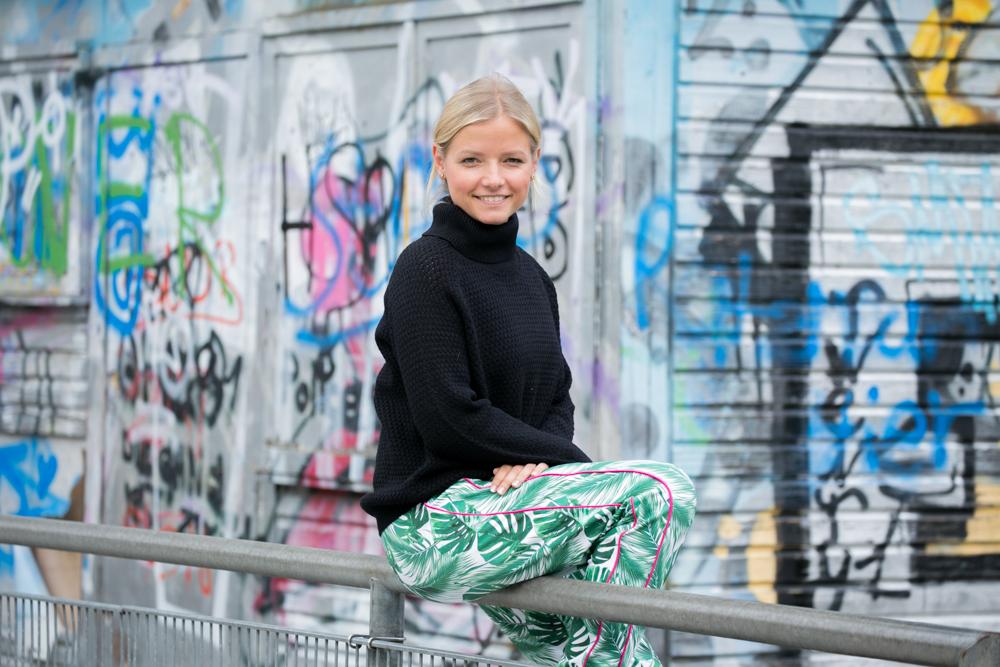 Genäht: Jogginghose Berlin mit Palmenblättern - Pech