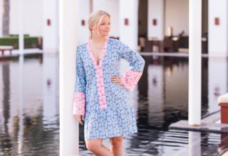 DIY – Unsere Tunika Capri als Kleid, und wie man bei nicht ganz weichen Stoffen die Taille betonen kann