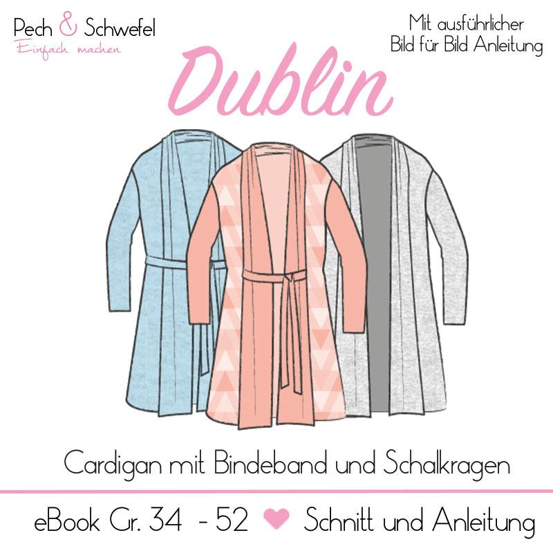 eece7a1ddc57 E-book Schnittmuster Dublin Cardigan Gr. 34 - 52 Damen