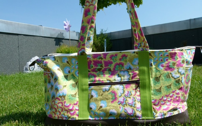Sommertasche mit Nappaleder