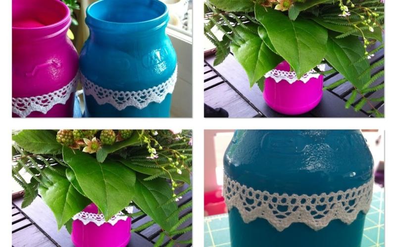 Süße Vasen selber machen