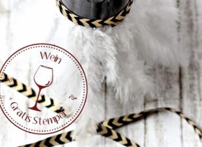 Schicke Weinflaschen und einen Stempel gratis – herrlich
