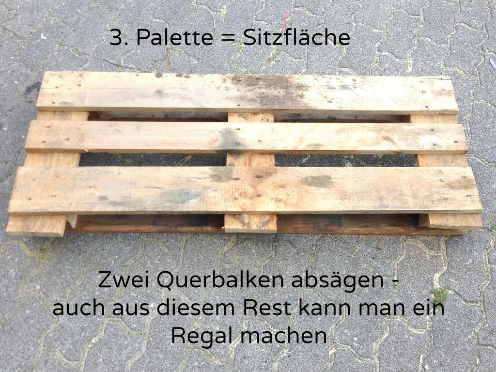 Möbel aus Paletten bauen   Anleitung