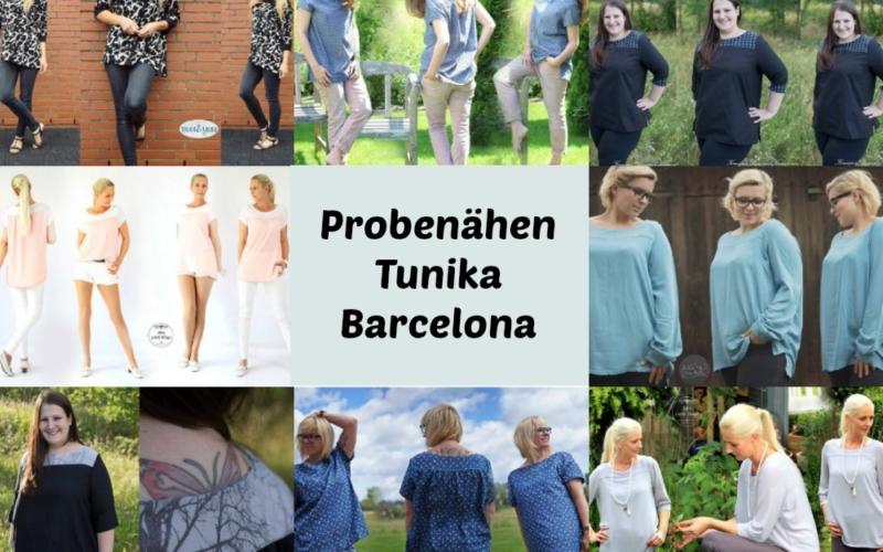 Probenähergebnisse Tunika Barcelona