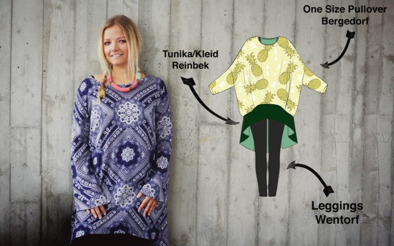 3 – fast neue – Schnittmuster die zusammen ein klasse Outfit ergeben