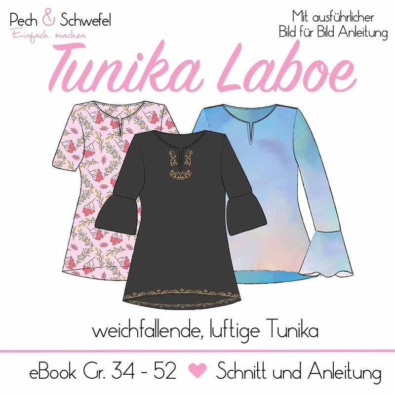 Schnittmuster Tunika Laboe Gr. 34 - 52 mit verschiedenen Ärmelvarianten