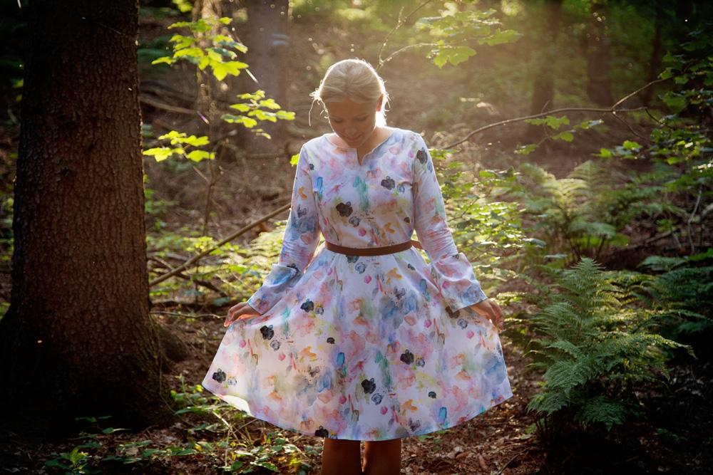 Jersey Kleid mit Tellerrock Laboe